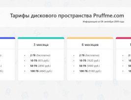 Обновление системы тарификации и хранения материалов на Pruffme.com