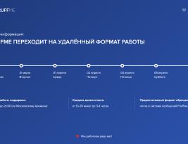 ГРАФИК РАБОТЫ ПОДДЕРЖКИ PRUFFME